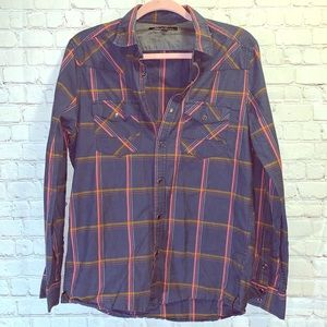 KENNETH COLE Plaid Button Down Shirt